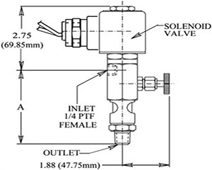 Lube-O-Matic - Solenoid with Integral Sight Feed