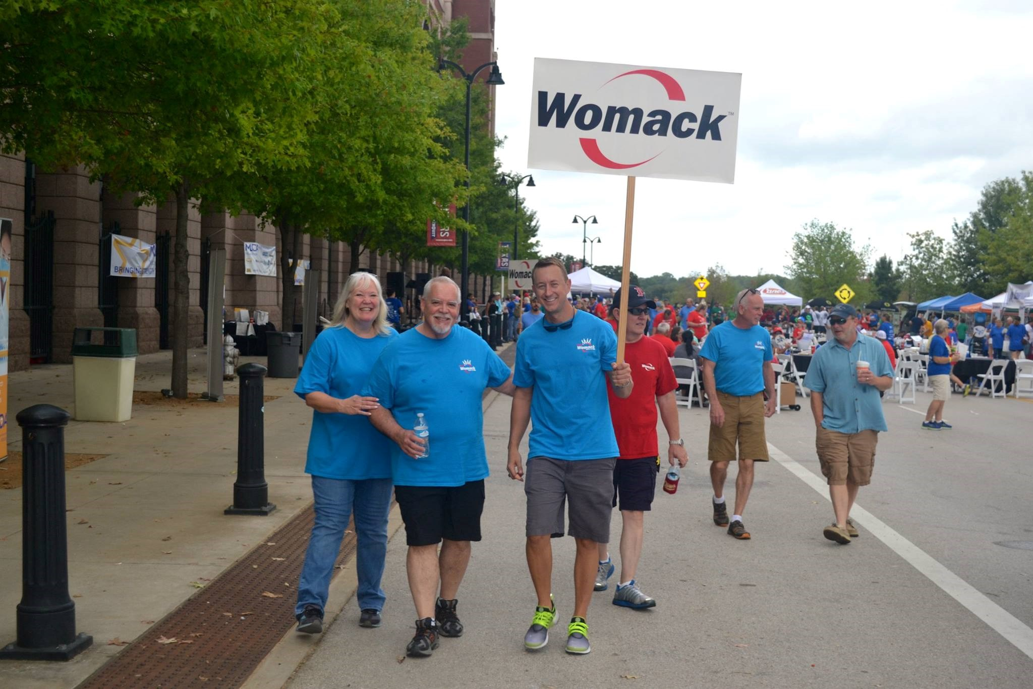 Womack at MDA walk event
