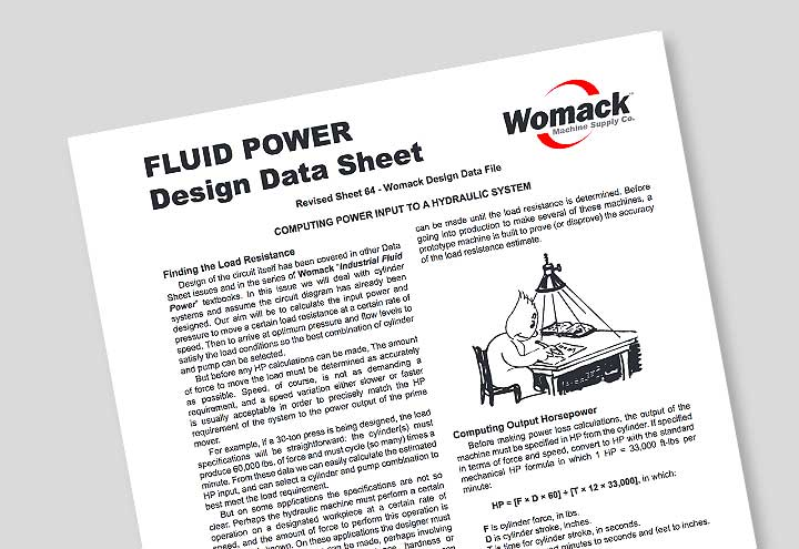 Data Sheets - Womack Machine Supply Company